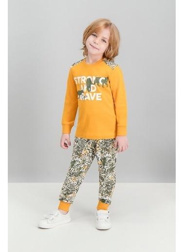 Roly Poly Rolypoly Brave Tiger Kayısı Erkek Çocuk Pijama Takımı Oranj
